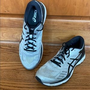 Asics gel-Kayano Gray with black accents 11.5M